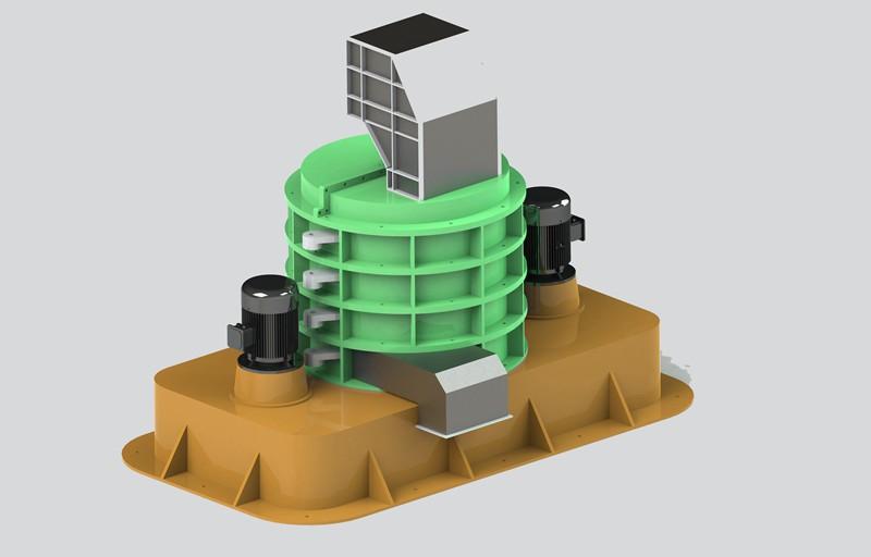 vertical shredder metal