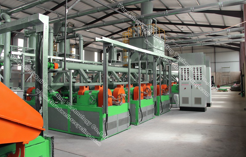 waste tyre recycling equipment for scrap tires