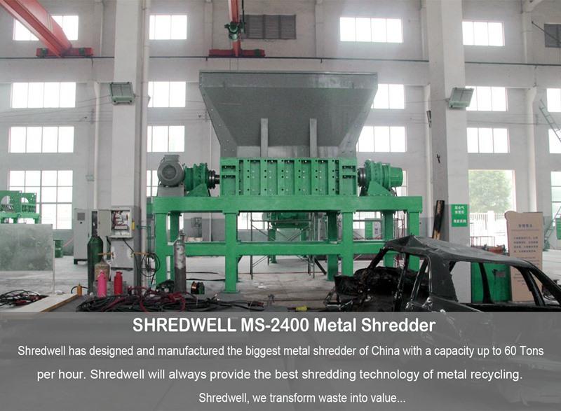 Biggest metal shredder from China