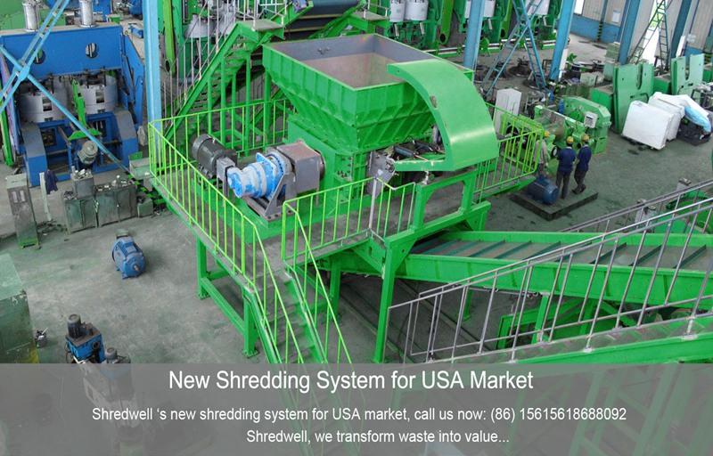 USA tire shredder from SHREDWELL