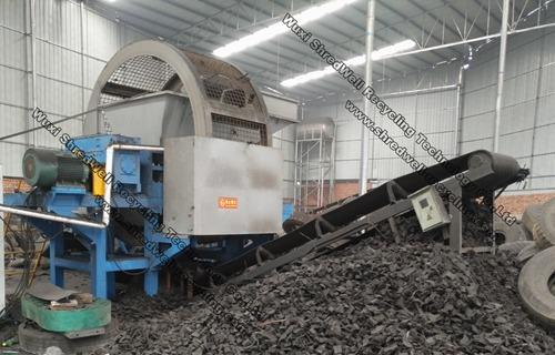 Tire shredding machine manufacturer waste tyre shredding for Scrap tractor tires