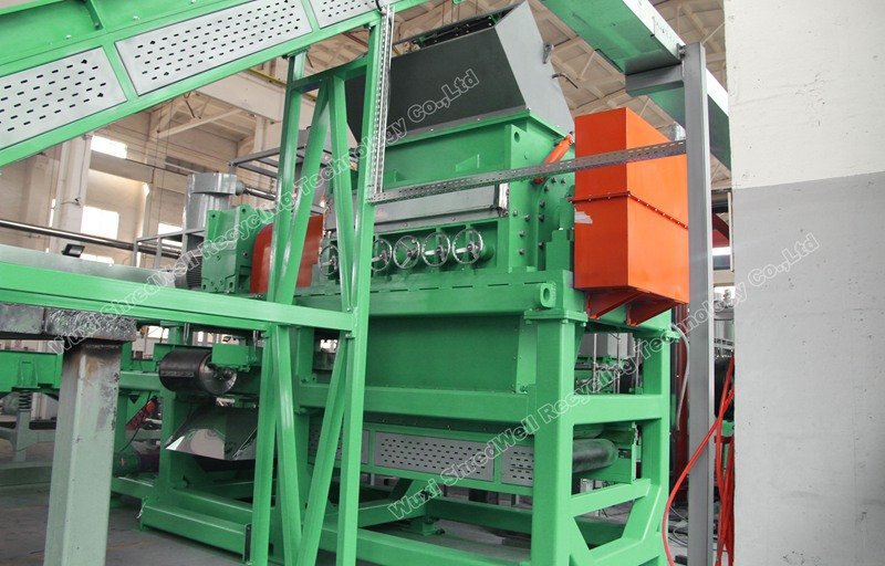 Rasper as secondary recycling machine for tires