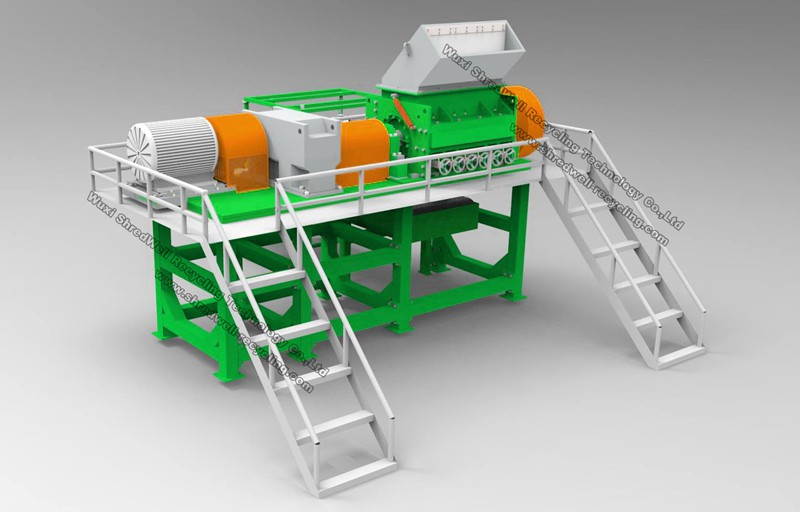 Tire recycling machine rasper as secondary scrap tyre for Tractor tire recycling
