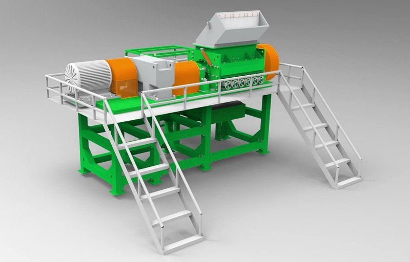 rubber tire recycling machine shredwell recycling