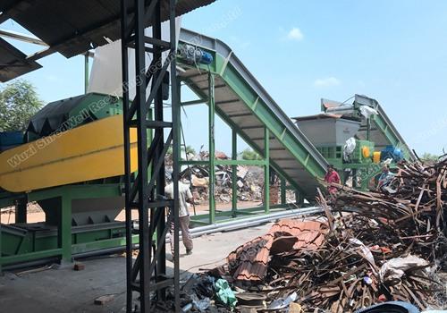 Shredwell scrap metal hammer shredding line