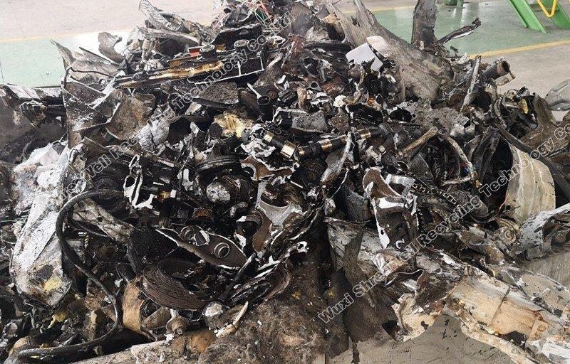 metal chips after shredding