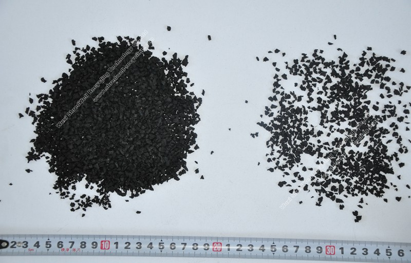 rubber crumb or rubber granules from rubber granulator