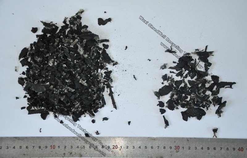 rubber mulch after waste tyre recycling system