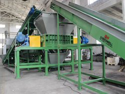 scrap tire shreder for Serbia from China