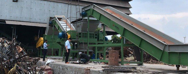 shredwell metal shredder line in India