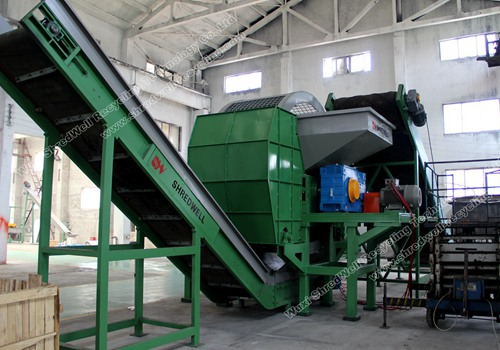shredwell tire shredding machine