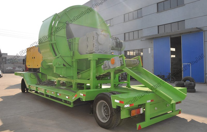 China price portable tyre shredder for sale