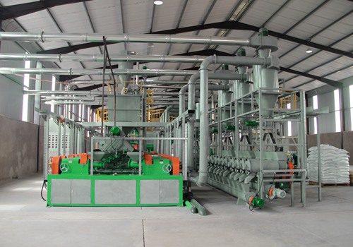 Miller in waste tire recycling line