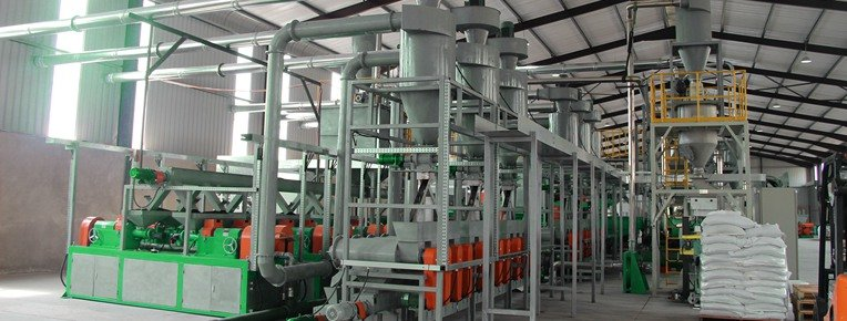 Shredwell rubber powder plant in South Africa