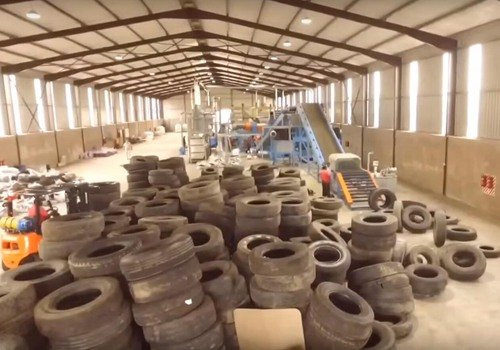 Tyre recycling line to rubber powder from Vincent to South Africa