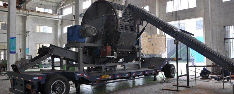 portable mobile tire shredding in manufacturing in SHREDWELL