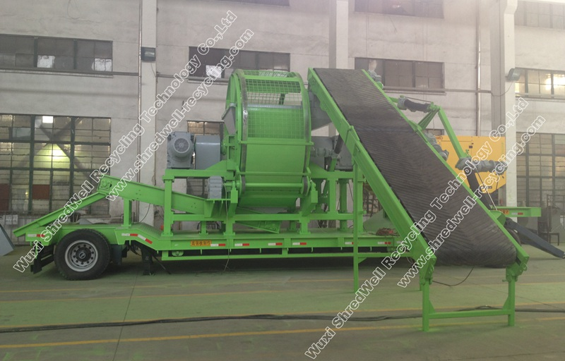 Portable tire shredder mobile tyre shredders machine manufacturers from china - Recycling mobel ...