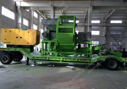 portable tyre shredding recycling machine for sale