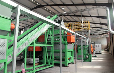 rubber recycling plant from China shredwell