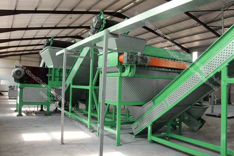 scrap tyre recycle plant for recycling tires