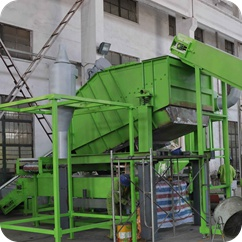 screen in tyre steel wire cleaning system