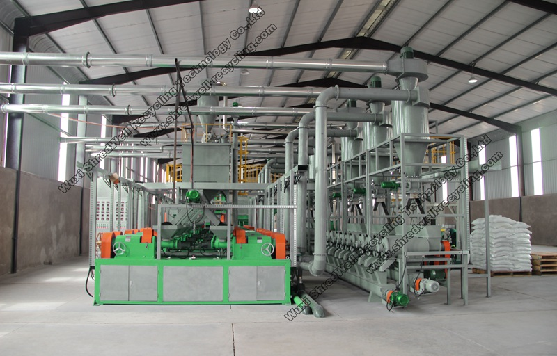 shredwell tyre recycling line