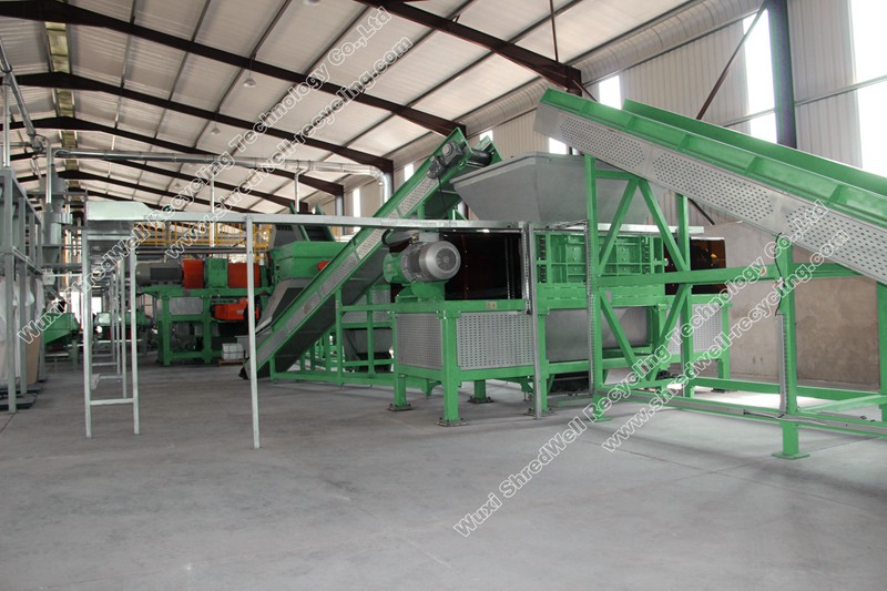 tire recycling plant for TDF chips