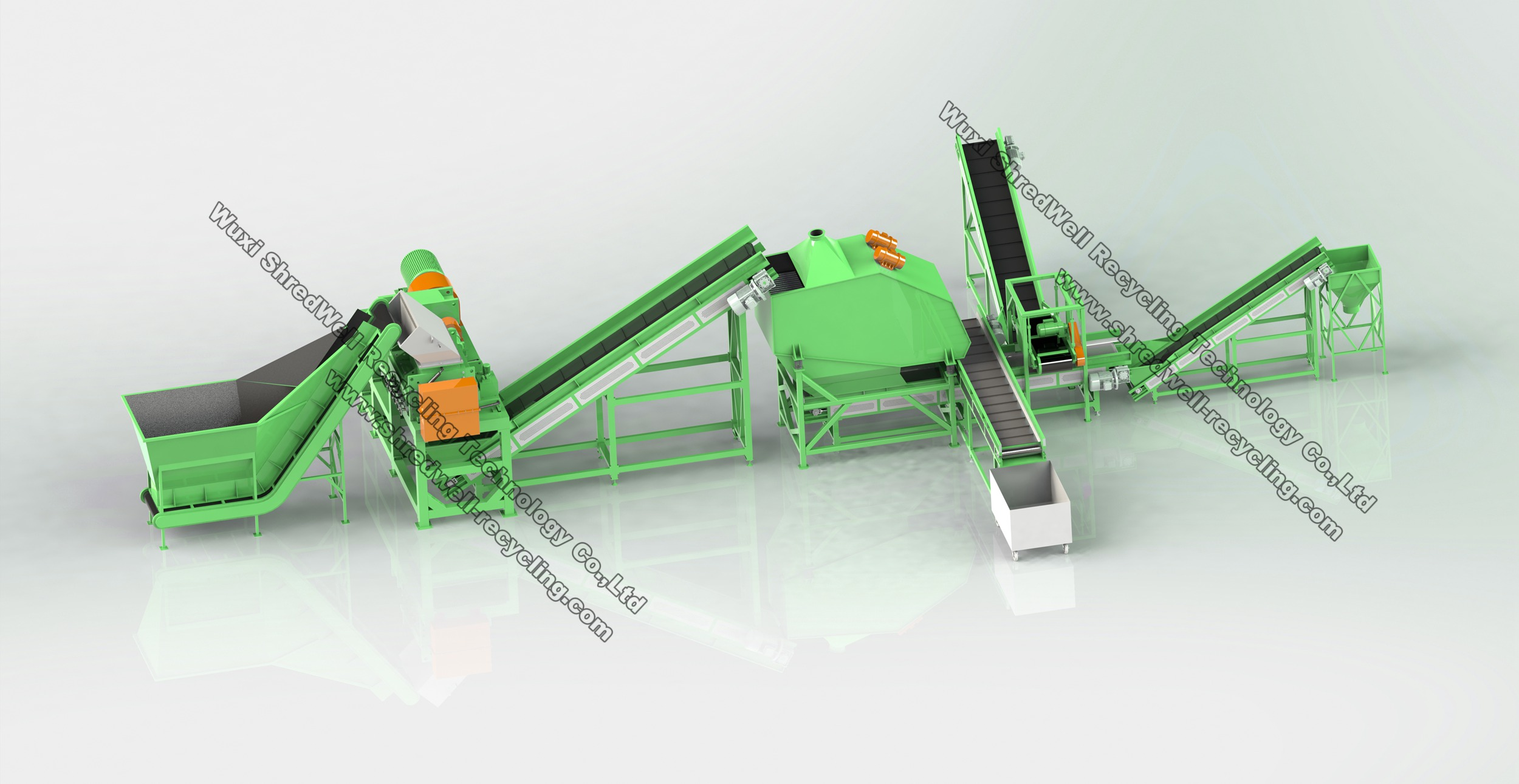 tire steel cleaning plant for scrap steel