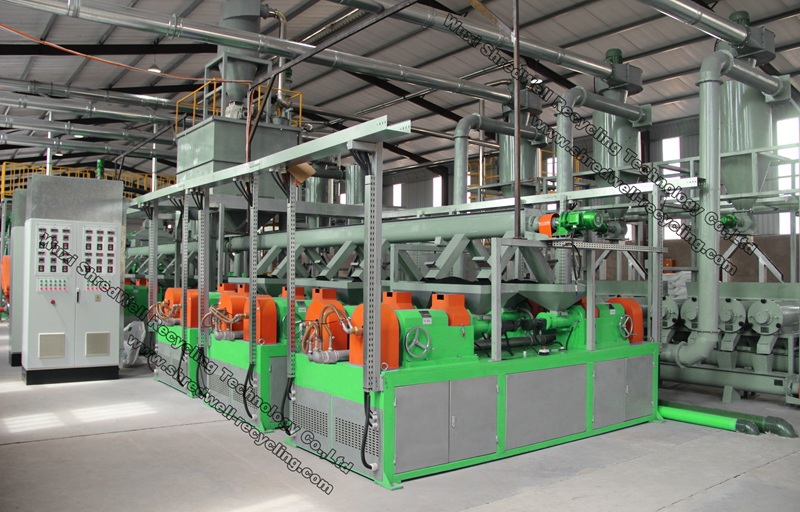 used tire recycling line factorty