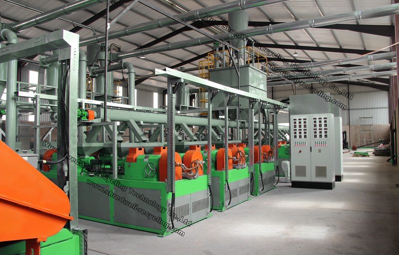 waste tire recycling line for scrap tyres