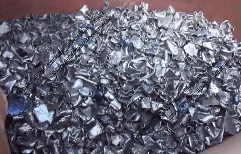 metal chips after metal vertical shredder