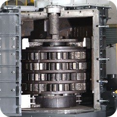 vertical shredder from metal recycling system