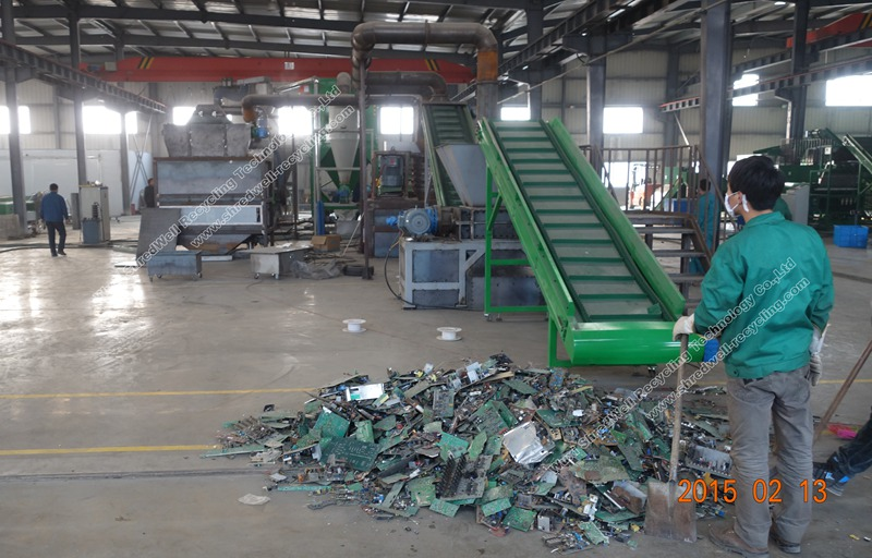 Weee Recycling Plant on scrap metal shredding