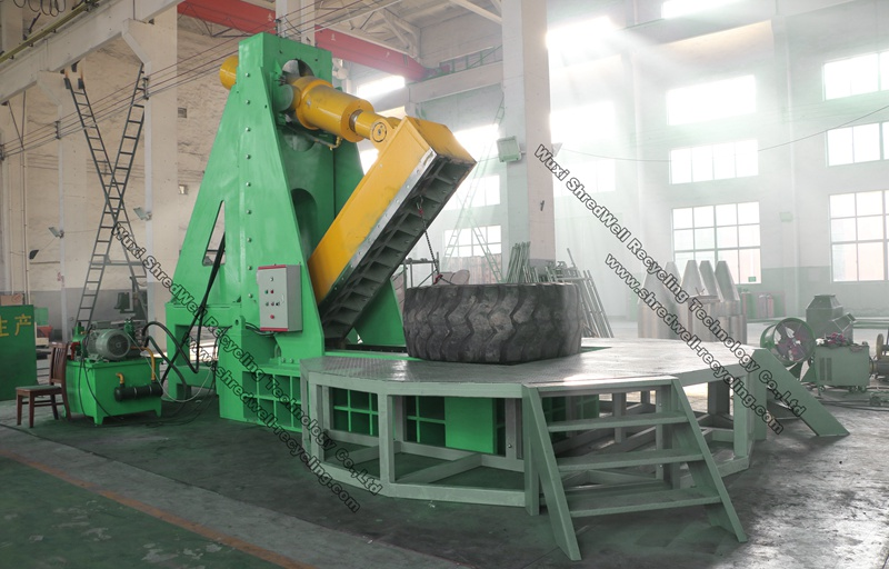 Otr Tire Cutter Machine For Sale 4 Meter Mining Tyres