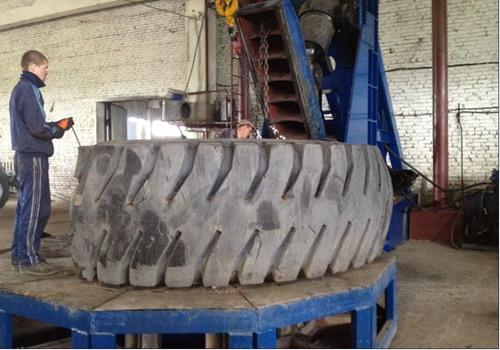 OTR tire cutter testing