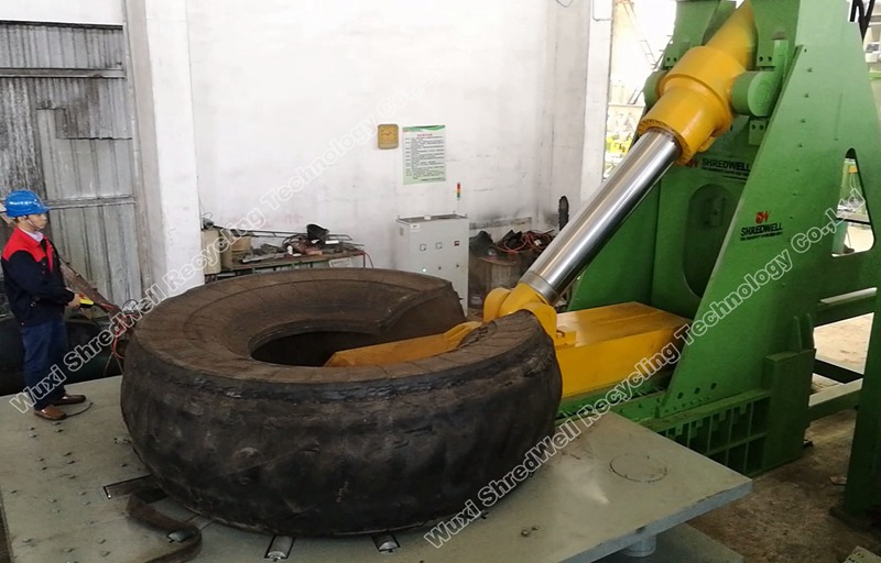 OTR tires cutter from Shredwell