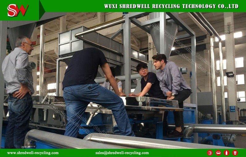 Shredwell automatic rubber crumb line