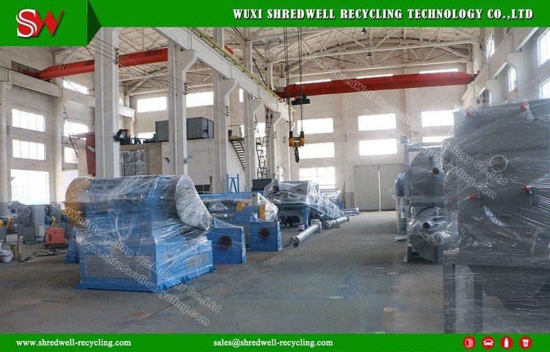 Shredwell PLC Control scrap tyre shredding line