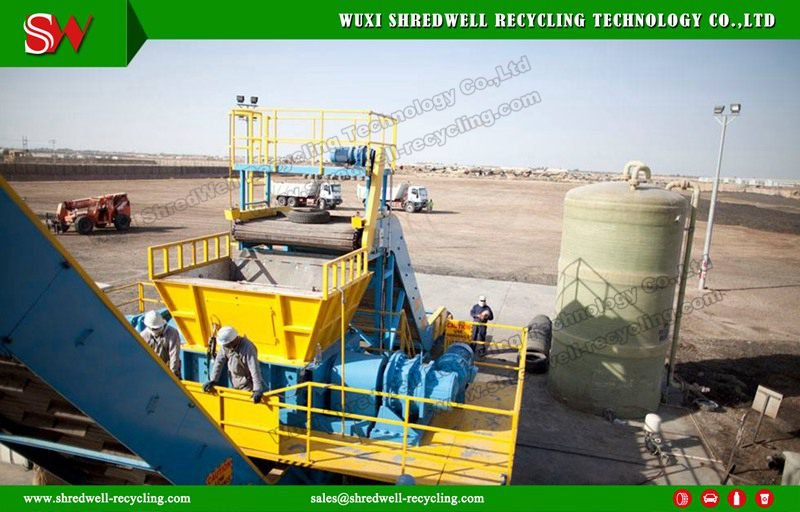automatic waste tyre recycling line