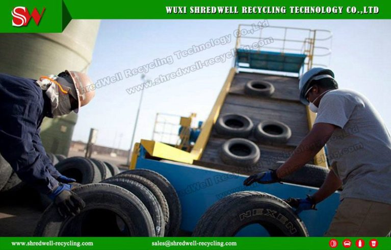 Waste Tyre Recycling Line Scrap Tire Shredding System