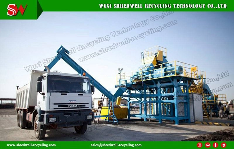 recycling line for waste tyre