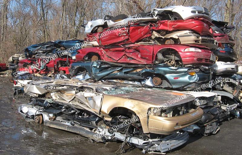 Scrap pressed auto car shredding recycling