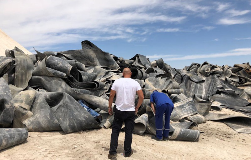 onveyor rubber belt shredding recycling