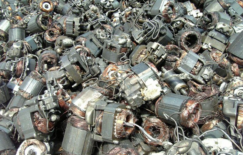 eletrical motor rotor shredding recycling from SHREDWELL CHINA