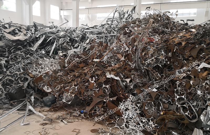 metal scrap in customer site