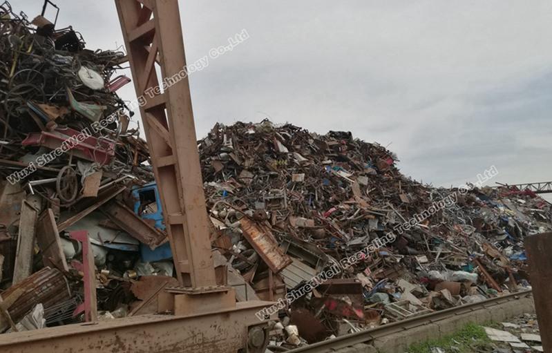 metal scrap mixed for shredding