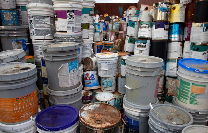 paint bucket recycling shredding