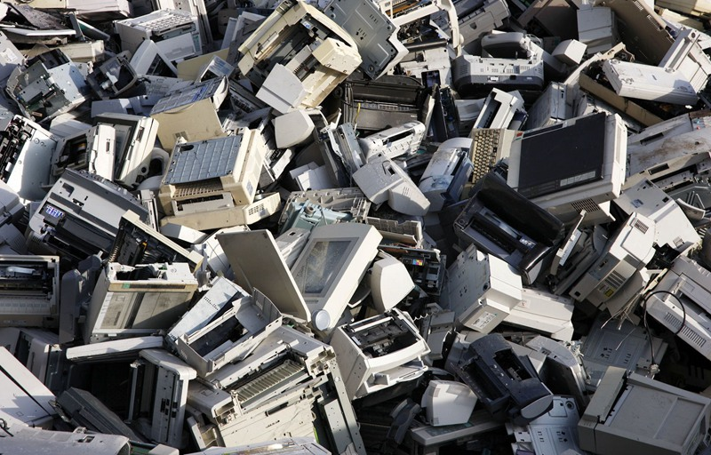 scrap printers shredding machine and recycling system