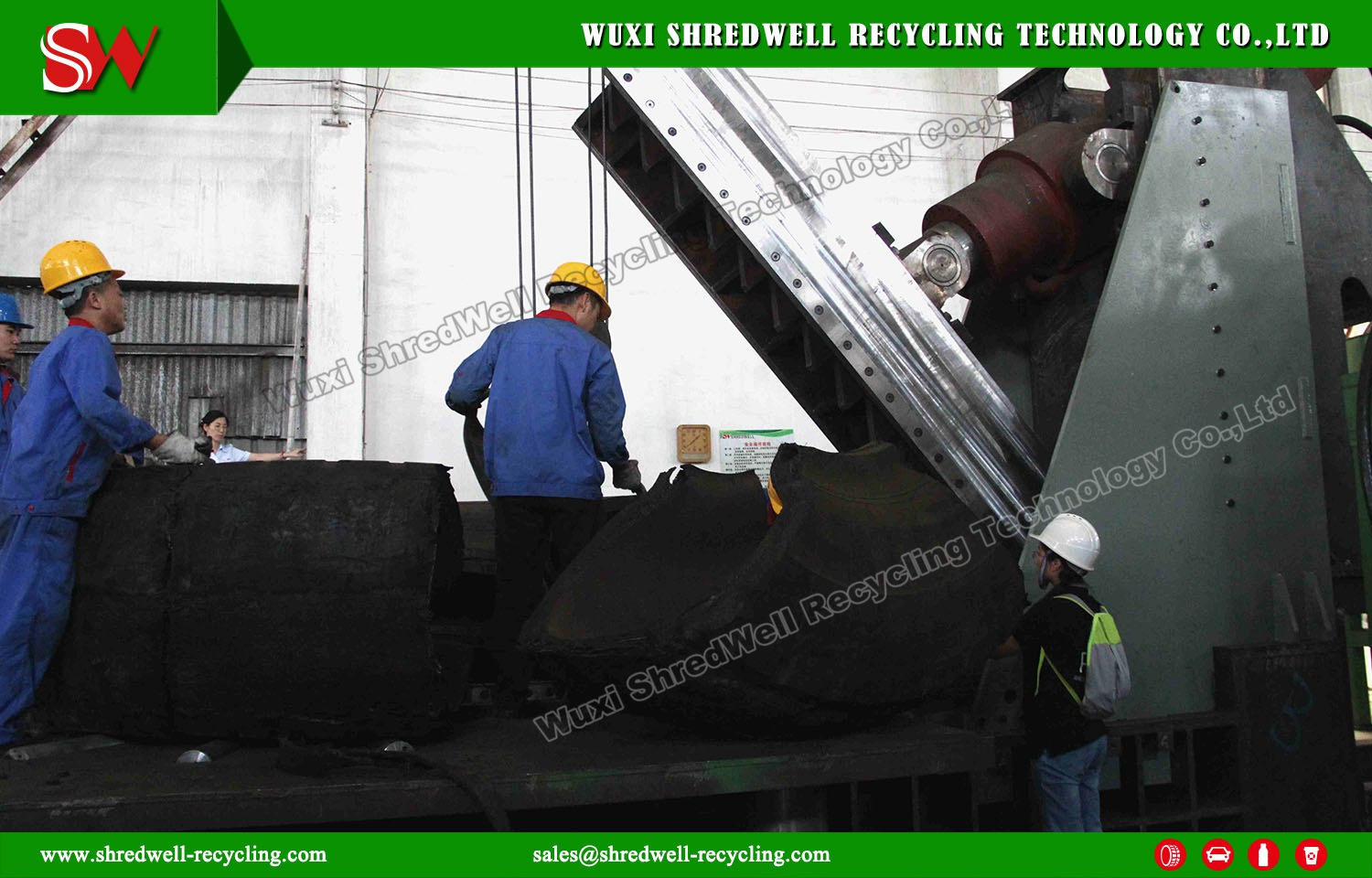 Shredwell New OTR Tyre Guillotine to Chile