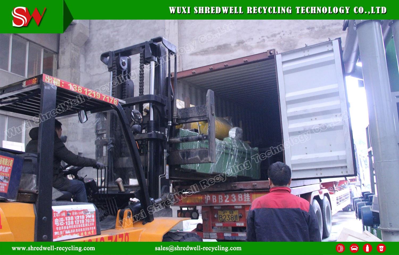 Shredwell New OTR Tire Guillotine delivery